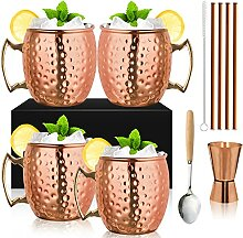 Moscow Mule Becher - 4er Set mit 1/0.5oz Double