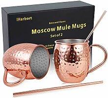 Moscow Mule Kupferbecher Biergläser, 2er Set, 473
