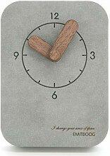 MOSHUSHI Digitale konkreteTischuhr quadratische