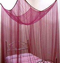 Moskitonetz Betthimmel 200 x 180 x 180 cm Insektenschutz tolle Farben Rot Bordeaux