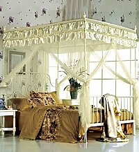 Moskitonetz Fußboden-Art Prinzessin Moskitonetz Square Top Drei Öffnen Die Tür Dick Rostfreier Stahl Insektennetz Moskitonetzen ( Farbe : B , größe : 1.8*2m )