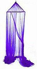 Moskitonetz Insektenschutz Baldachin Lila 12,5 m Fliegennetz
