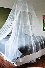 Moskitonetz Insektenschutz Baldachin Weiss Ø 60 cm x 250 cm hoch Fliegennetz Mückenschutz