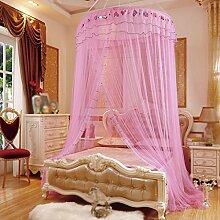 Moskitonetz, runde Decke, Boden, Haus, Student, 1 / 1.2 / 1.5 / 1.8m / 2 Bett Prinzessin Wind, runde Dekoration , 1 , 135cm