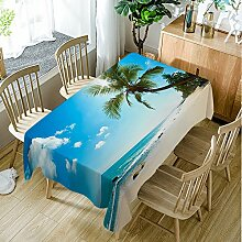 Moslion Beach Tischdecke, Tropischen Strand mit