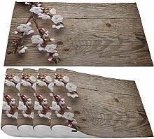 Moslion Platzdeckchen Kirschblüten,