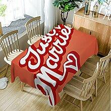 Moslion Tischdecke für Hochzeit, Retro-Stil,