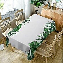 Moslion Tischdecke mit Palmenblatt-Blättern,