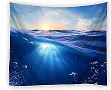moslion Wand Wandteppich, Meerwasser