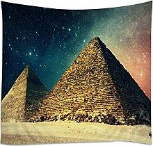 Moslion Wandteppich, Mandala-Motiv, Bohemianisches