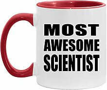 Most Awesome Scientist - 11oz Accent Mug Red