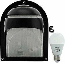 Mote-LED 10W - E27 - Aluminium -Alu wandstrahler