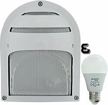Mote -LED 10W - E27 - Aluminium -Alu wandstrahler