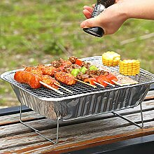 Mothcattl Barbecue-Ofen, Einweg-Grill, tragbar,