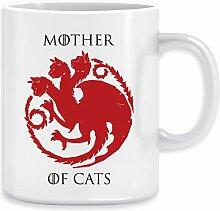 Mother Of Cats Kaffeebecher Becher Tassen Ceramic