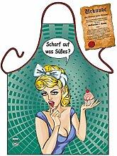 Motiv-Fun/Spaß-Grill/Kochschürze/ Thema Backen: Scharf auf was Süßes? - inkl. Spaß-Urkunde