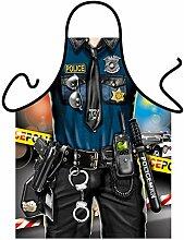 Motiv-Fun/Spaß-Grill/Kochschürze/ Thema Männer: Police Man - inkl. Spaß-Urkunde