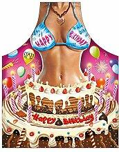 Motiv-Fun/Spaß-Grill/Kochschürze/ Thema sexy Girl: Happy Birthday Woman - inkl. Spaß-Urkunde