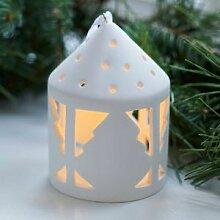 Motiv: Tannenbaum - Moderner Teelicht-Anhänger
