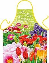 Motiv/Themen-Grill/Koch-Schürze florales Motiv inkl. Spaß-Urkunde: Blumen - geniales Geschenk