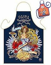 Motiv/Themen-Schürze/Grill/Kochschürze Rubrik Italien: Pasta Arte - Geschenk-Set inkl. Mini-Schürze