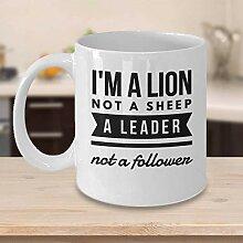 Motivierende Kaffeetasse Löwe Kaffeetasse