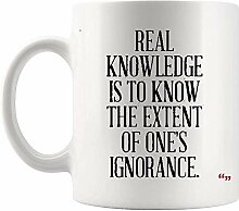 Motivierende Tassen Kaffeetasse | Real Knowledge