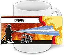 Motivtasse mit Namen Davin und schönem