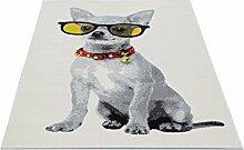 Motivteppich Trendteppich Flash Hund Brille 120 x 170 cm