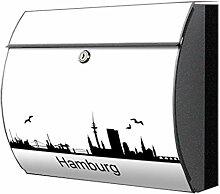 motivx Briefkasten Edelstahl bunt Zeitungsfach