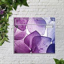 motivX Sonate Wandbriefkasten Briefkasten mit Motiv -Halbtransparente Blumen- mit Namensschild bunt pulverbeschichte