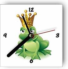 Motivx Wanduhr mit Motiv - Froschkönigin