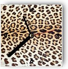 Motivx Wanduhr mit Motiv -Leopard