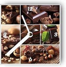 motivX Wanduhr mit Motiv -Schokolade