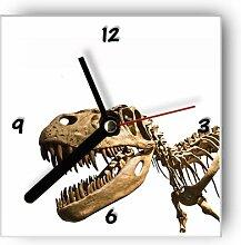 Motivx Wanduhr mit Motiv - Skelett Dinosaurier