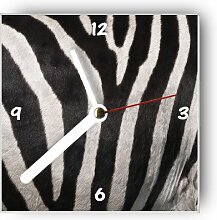Motivx Wanduhr mit Motiv Zebra