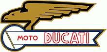 Moto Ducati Hochwertigen Auto-Autoaufkleber 15 x 8 cm