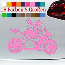 Moto Girl Aufkleber Bikerin Yamaha Honda Sticker