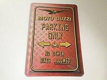 Moto Guzzi parking only - Blechschild 20x30 cm Parkplatz Garage Carport Schild 4