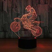 Motocross 3D LED-Nachtlicht, 3D Optical Illusion