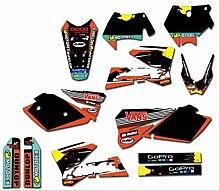 Motocross-Aufkleber Aufkleber Motorrad-Team-Grafik