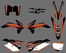 Motocross-Aufkleber Grafik mit Matching HINTER