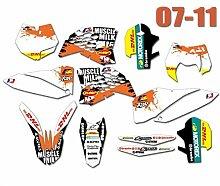 Motocross-Aufkleber Grafiken Abziehbilder