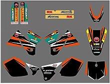 Motocross-Aufkleber Motorrad-Grafik-Aufkleber