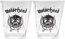 Motörhead Whiskey Glas-Set Bierglas klar