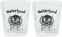Motörhead Whiskey Glas-Set Whiskyglas - klar -