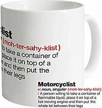 Motorcyclist Definition Tasse