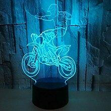 Motorrad 3d Lampe Bunte Berührung Led Visuelle