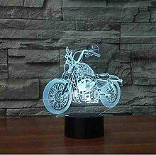 Motorrad 3D Nachtlicht Weihnachten 3D Lampe