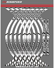 Motorrad Felgenrandaufkleber Rim Stripes Aufkleber